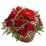 Кошики з різних квітів - цветы и букеты на salonroz.com