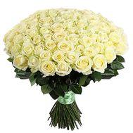 151 белая роза - цветы и букеты на salonroz.com
