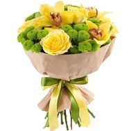 Author''s bouquet with orchids - flowers and bouquets on salonroz.com