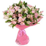 Bouquet of flowers from 17 alstromeries - flowers and bouquets on salonroz.com