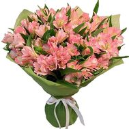 Bouquet of 27 pink alstromeries - flowers and bouquets on salonroz.com