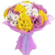 Bouquet of 15 chrysanthemums - flowers and bouquets on salonroz.com