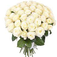 Букет из 55 белых роз - цветы и букеты на salonroz.com