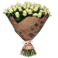 A bouquet of 51 white roses - flowers and bouquets on salonroz.com