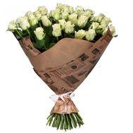 Букет из 51 белой розы - цветы и букеты на salonroz.com