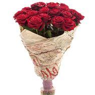 Букет із 19 червоних троянд - цветы и букеты на salonroz.com
