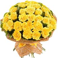 Bouquet of 51 yellow roses - flowers and bouquets on salonroz.com