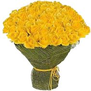 Bouquet of 101 yellow roses - flowers and bouquets on salonroz.com