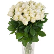 Bouquet of 33 white roses - flowers and bouquets on salonroz.com