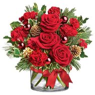 New Year's carnival - flowers and bouquets on salonroz.com