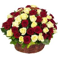 Wonderful basket of roses - flowers and bouquets on salonroz.com