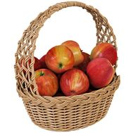 Wonderful basket of apples - flowers and bouquets on salonroz.com