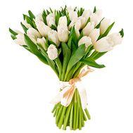 Классный букет из белых тюльпанов - цветы и букеты на salonroz.com