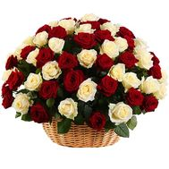 Basket of Roses on the Jubilee - flowers and bouquets on salonroz.com