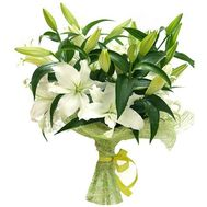 Beautiful bouquet of white lilies - flowers and bouquets on salonroz.com