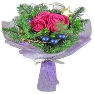 Маленький новогодний букет - цветы и букеты на salonroz.com