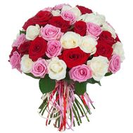 Delicate bouquet of roses - flowers and bouquets on salonroz.com