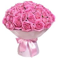 Delicate bouquet of pink roses - flowers and bouquets on salonroz.com