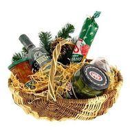 Новогодняя корзина для мужчины - цветы и букеты на salonroz.com