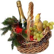 Новогодняя подарочная корзина - цветы и букеты на salonroz.com