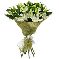 An excellent bouquet of white lilies - flowers and bouquets on salonroz.com