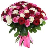 Chic bouquet of 101 roses - flowers and bouquets on salonroz.com