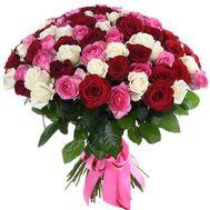 Шикарный букет из 101 розы - цветы и букеты на salonroz.com