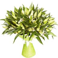 Chic bouquet of lilies - flowers and bouquets on salonroz.com