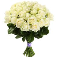 Amazing bouquet of white roses - flowers and bouquets on salonroz.com