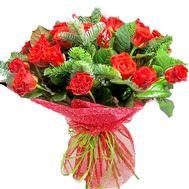 Восхитительный букет на Новый год - цветы и букеты на salonroz.com