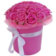 35 pink roses in a box - flowers and bouquets on salonroz.com
