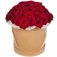 51 red rose in a box - flowers and bouquets on salonroz.com