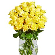 25 yellow roses - flowers and bouquets on salonroz.com