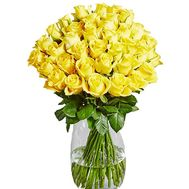 45 yellow roses in a bouquet - flowers and bouquets on salonroz.com