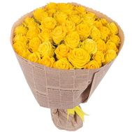 55 yellow roses in paper - flowers and bouquets on salonroz.com