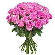 Bouquet of 31 pink roses - flowers and bouquets on salonroz.com