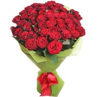Bouquet of 51 red roses - flowers and bouquets on salonroz.com