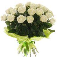 Букет из 19 белых роз - цветы и букеты на salonroz.com