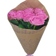 Bouquet of 11 pink roses - flowers and bouquets on salonroz.com