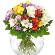25 фрезий в букете - цветы и букеты на salonroz.com