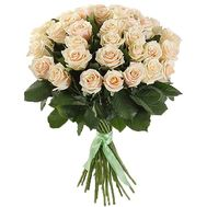 35 selected cream roses in bouquet - flowers and bouquets on salonroz.com