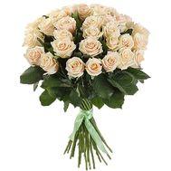 35 добірних кремових троянд в букеті - цветы и букеты на salonroz.com