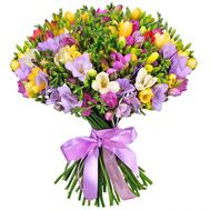 51 freesia in a bouquet - flowers and bouquets on salonroz.com