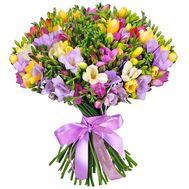51 фрезия в букете - цветы и букеты на salonroz.com