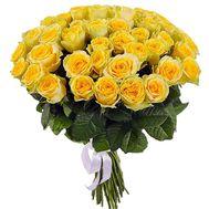 51 желтая роза - цветы и букеты на salonroz.com