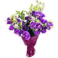 Bouquet of purple lisianthus - flowers and bouquets on salonroz.com