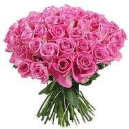Bouquet of 61 pink roses - flowers and bouquets on salonroz.com