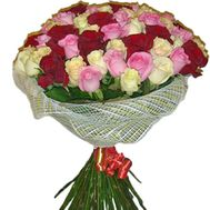 Bouquet of 65 roses - flowers and bouquets on salonroz.com