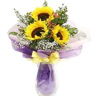 Bouquet of sunflowers - Summer - flowers and bouquets on salonroz.com