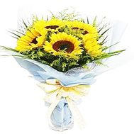 Bouquet of sunflowers - Bright day - flowers and bouquets on salonroz.com